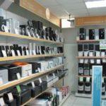 Вид камеры идеонаблюдения в магазине