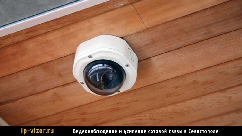 Купольная камера видеонаблюдения в квартире