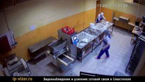 Камера системы видеонаблюдения для котроля сотрудников на предприятии